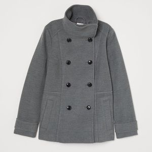 H&M Double-Breasted Peacoat